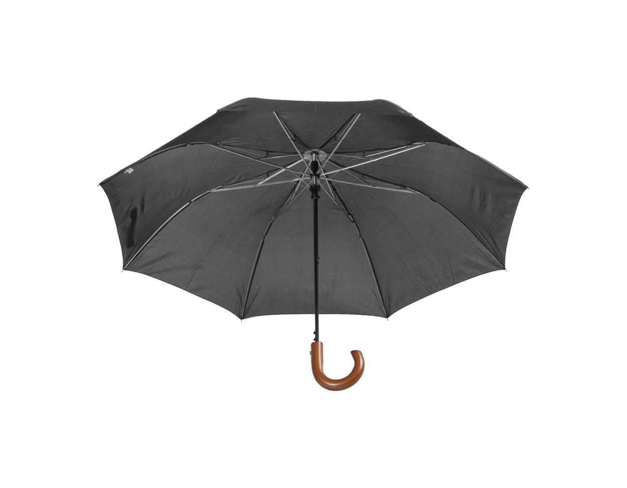 fekete Stansed összecsukható fanyelû esernyõ